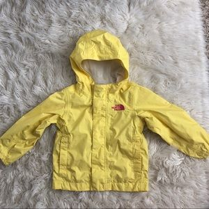 The North Face windbreaker yellow toddler 2T